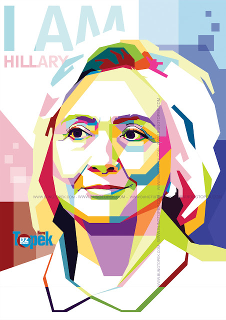 Hillary Clinton In WPAP Art