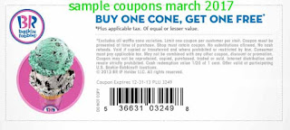 Baskin Robbins coupons march