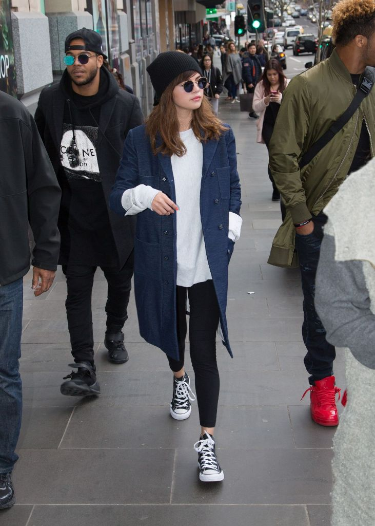 Selena Gomez in Casual Outfit at Melbourne