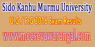 Sido Kanhu Murmu University U.G / P.G 2016 Exam Results