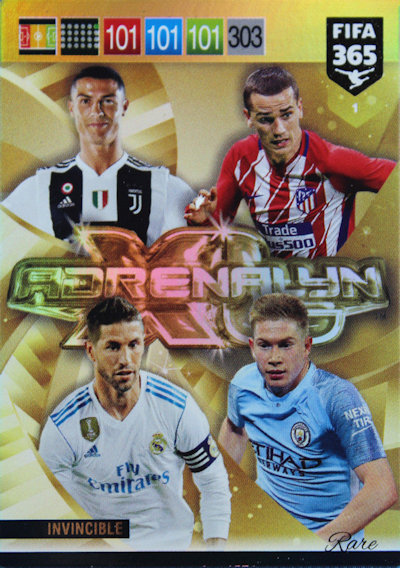 PANINI ADRENALYN XL FIFA 365 2018 LIMITED EDITION NEYMAR BARCELONA