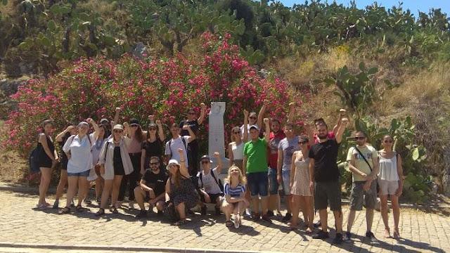 Οργανώσεις της ΚΝΕ από το Αιγάλεω και το Χαϊδάρι στην Ακροναυπλία