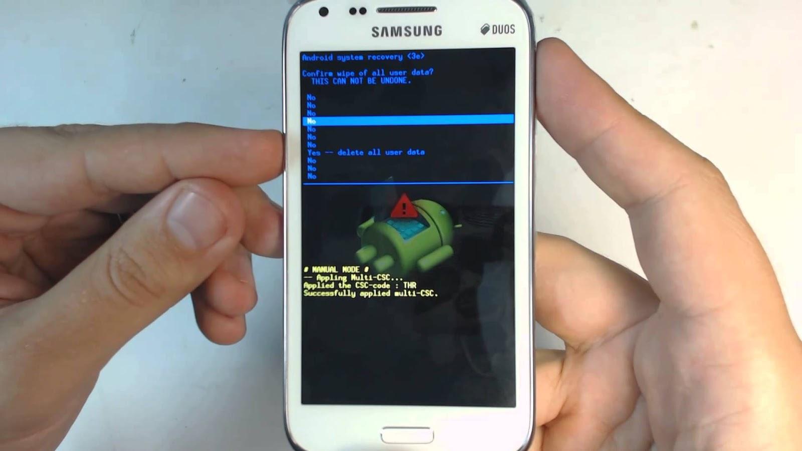 Полный сброс - hard reset для андроида Samsung Galaxy 22