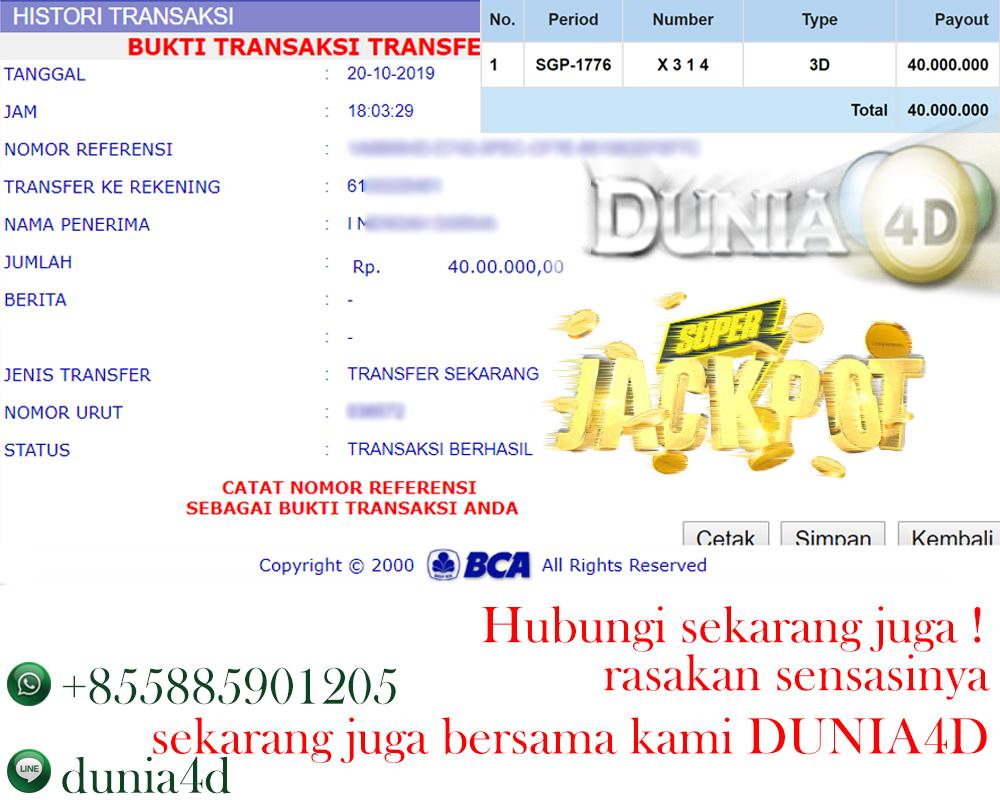 SULAP ONLINE HANYA DI DUNIA4D, DUDUK-DUDUK DAPAT DUIT! JACKPOT SINGAPORE LAGI
