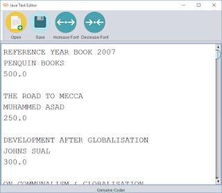 Java Text Editor Large font