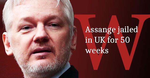 Julian Assange - nhà sáng lập WikiLeaks bị kết án 50 tuần tù giam tại Anh - CyberSec365.org