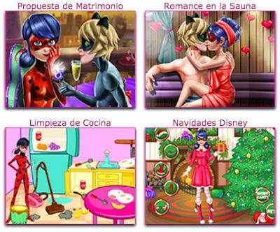juegos de la prodigiosa ladybug y cat noir de besos