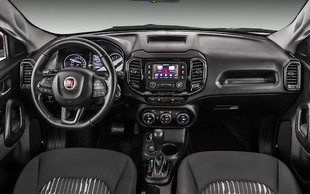 Fiat Toro 2017 2.4 Flex Automática - interior - painel