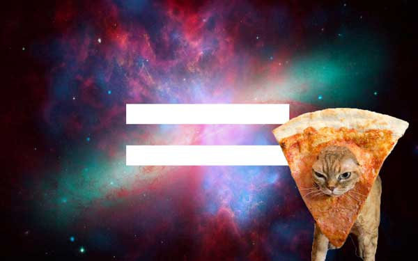 equality pizza cat space hipster philanthrop