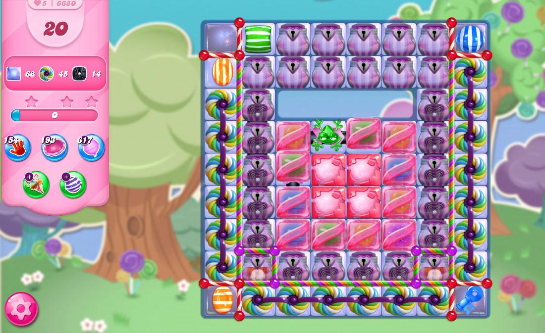 Candy Crush Saga level 6680
