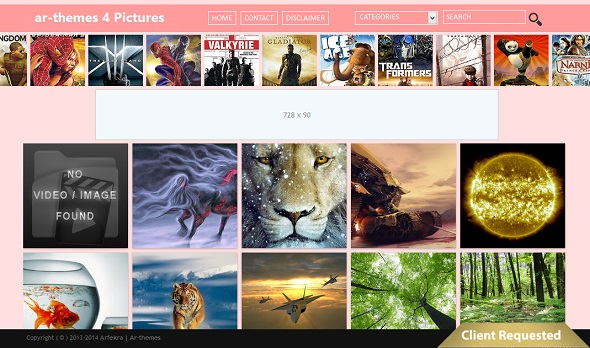 ar-themes 4 Pictures Blogger Template Preview