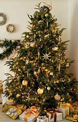 Muyamenocom Arboles De Navidad Dorados - Arboles-de-navidad-dorados