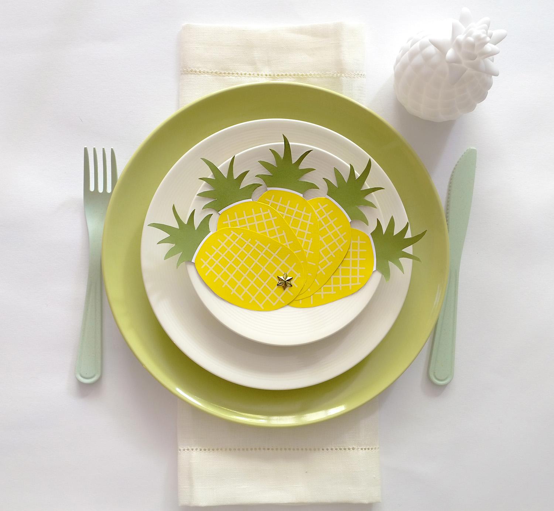 Ananas waaier free printable voor een tropisch feest