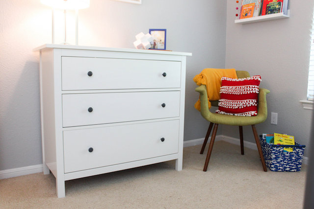 At Home Decor, Toddler Bedroom, Kids bedroom decor, colorful bedroom, bedroom makeover, kids bedroom makeover, big boy room, primary color bedroom, bunk beds, ikea hemnes dresser, home decor blog, home decor blogger