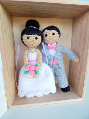 amigurumi wedding couple cake topper crochet