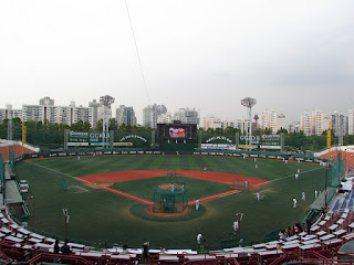 Home to center, Mokdong Baseball Stadium