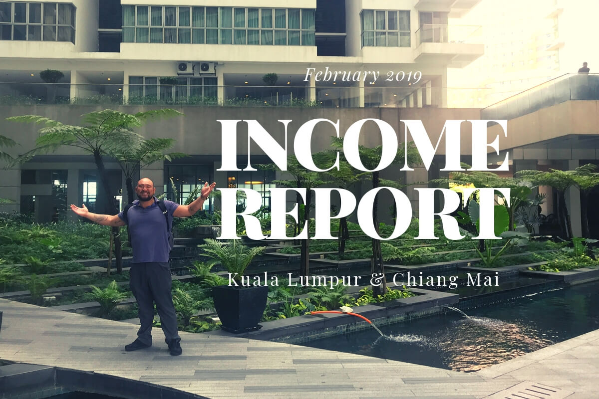 Feb 2019: Monthly Travel, Income and Expenses Report from