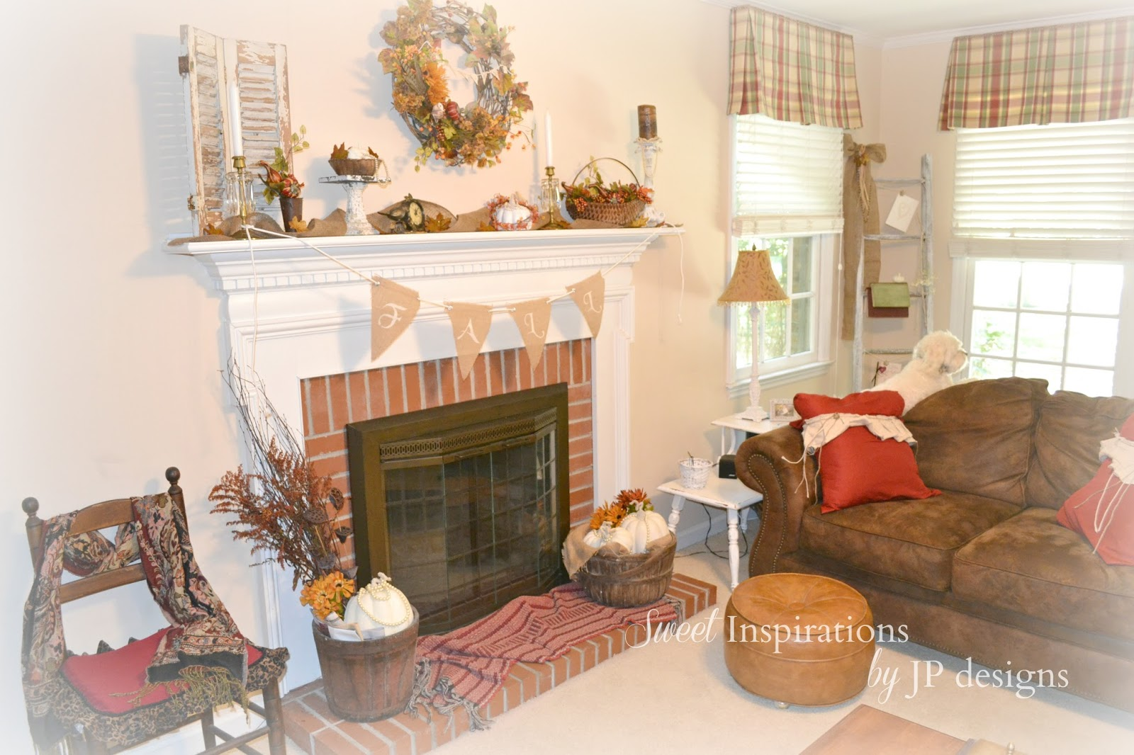 sweet inspirations by jp designs our fall mantel in our carolina home