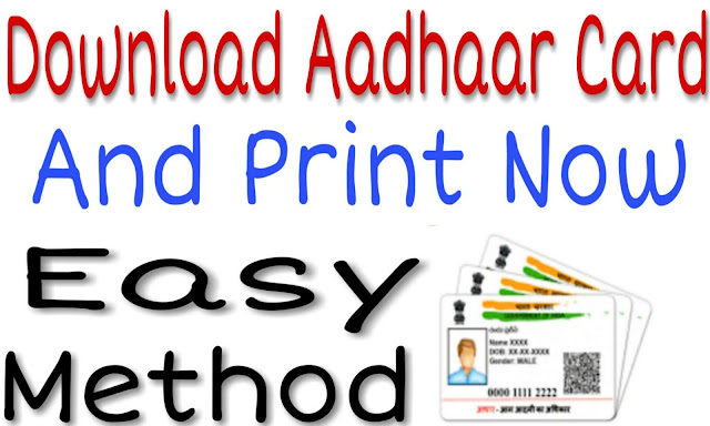 Download And Print Aadhaar Card By Simple Method