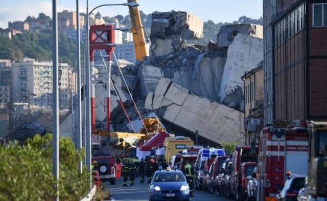 Italy Bridge: Grief And Anger Over Collapse In Genoa