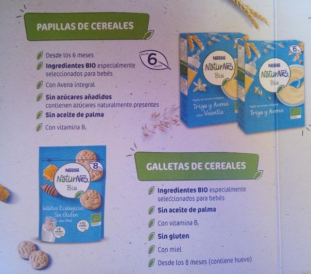 Galletas de cereales Naturnes bio Nestle