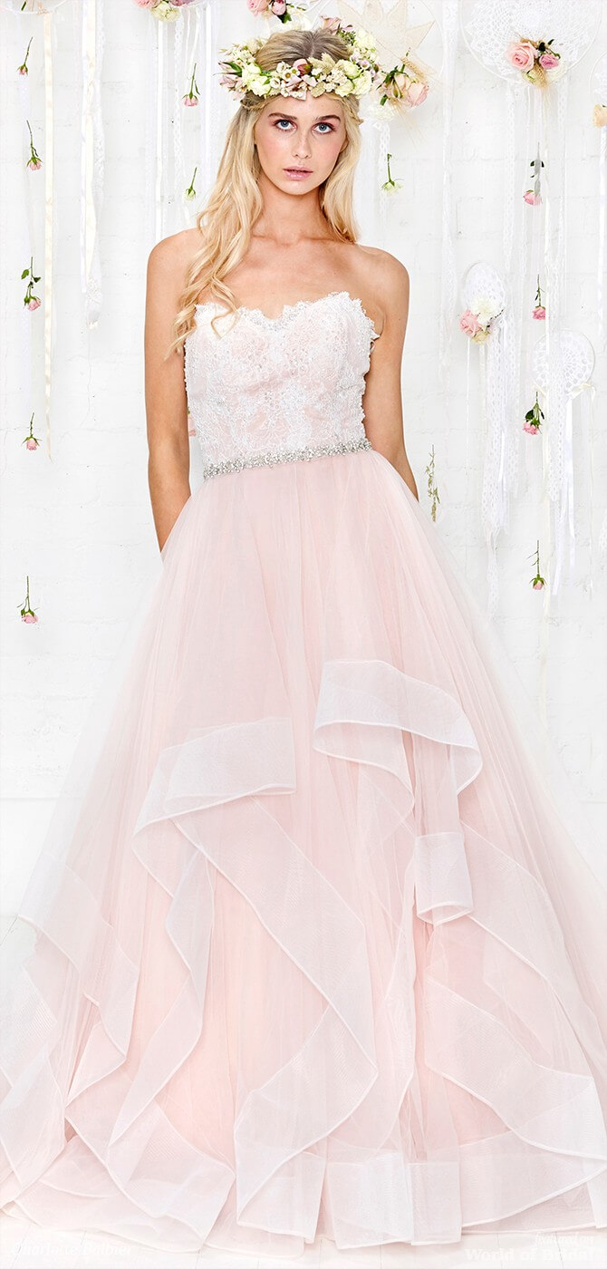 7dd08163383 ... Charlotte Balbier 2018 Tiered tulle princess bridal gown with heavily  laced bodice