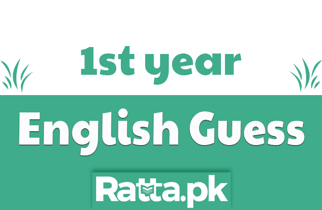 1st Year English Important Questions, Stories, Letters and Pair of Words Guess paper 2020 11th Class