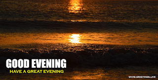 Beautiful sunset Sea waves Good evening wishes Images free download.