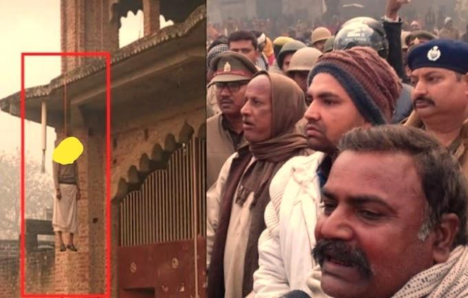 मंदिर विवाद में मंदिर की गेट पर लटका मिला पूजारी का शव हत्या की आशंका ?..
