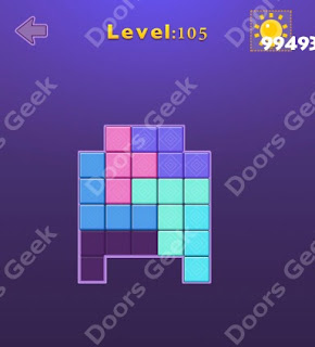 Cheats, Solutions, Walkthrough for Move Blocks Easy Level 105