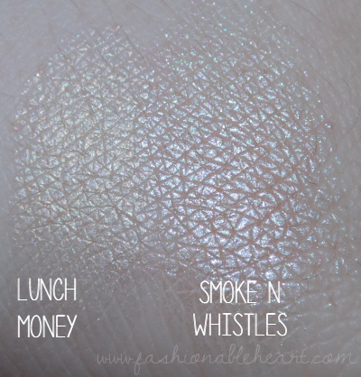 bbloggers, bbloggersca, canadian beauty bloggers, lunch money, smoke n whistles, colourpop, highlighters, product review, swatches, fair skin, smokin whistles