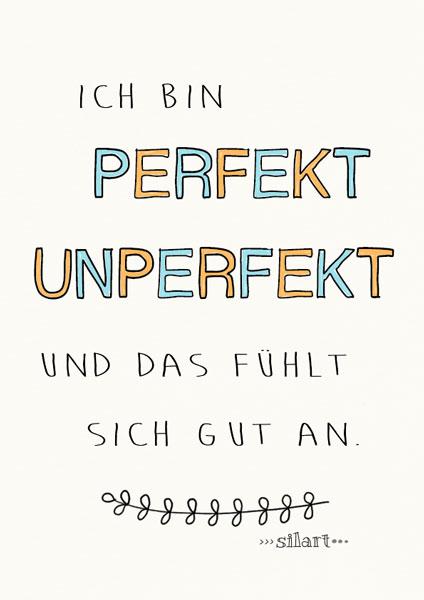 Perfekt unperfekt, lettering card