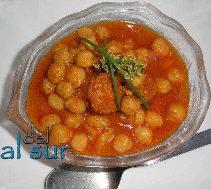 La cocina malague a alsurdelsur potaje de garbanzos con - Potaje de garbanzos y judias ...