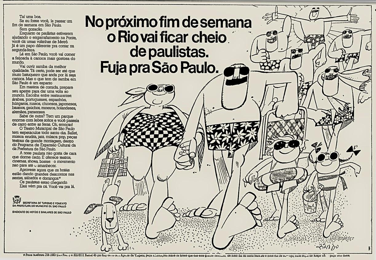 Campanha para promover o turismo na cidade de São Paulo em 1974