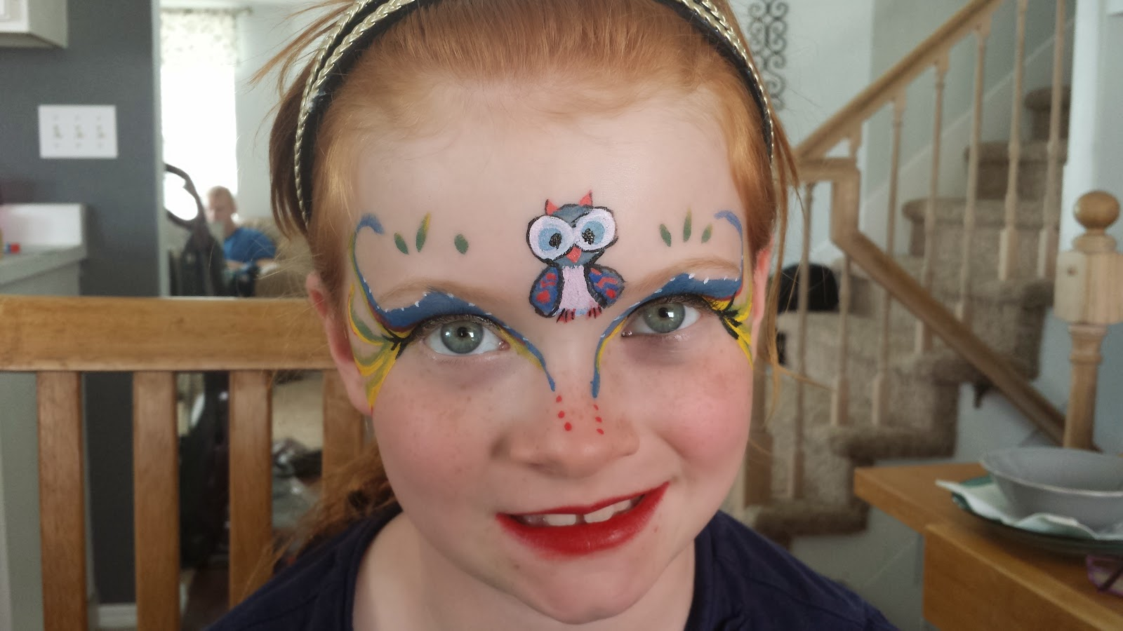 owl face paint