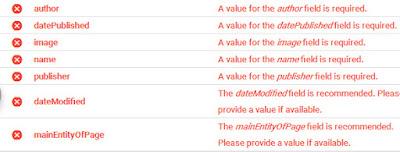 error struktur data blog