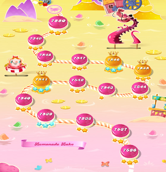 Candy Crush Saga level 7536-7550