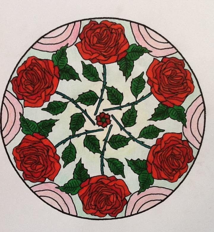 Mandala Kleurplaten Rozen.De Frutselknutsels Van Mirjam Liek Mandala S