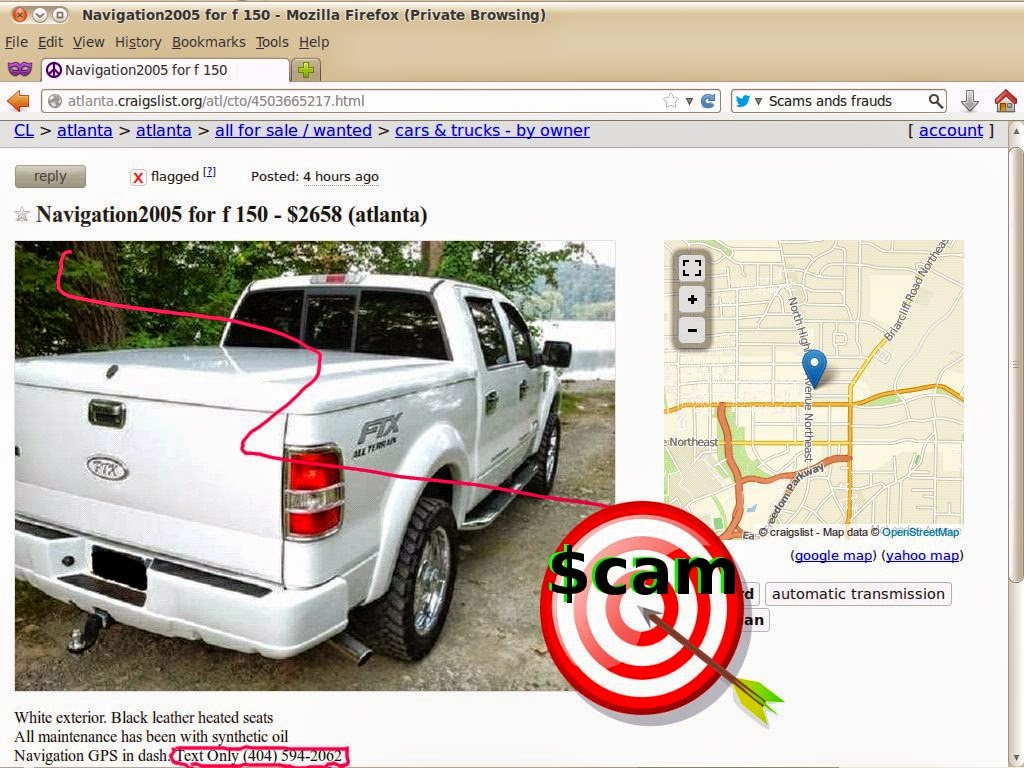Craigslist Scam Ads Detected On 02 13 2014 Vehicle Scams Google Scama Engine Wiring Harness Update Mists Email Addresses Phone Numbers