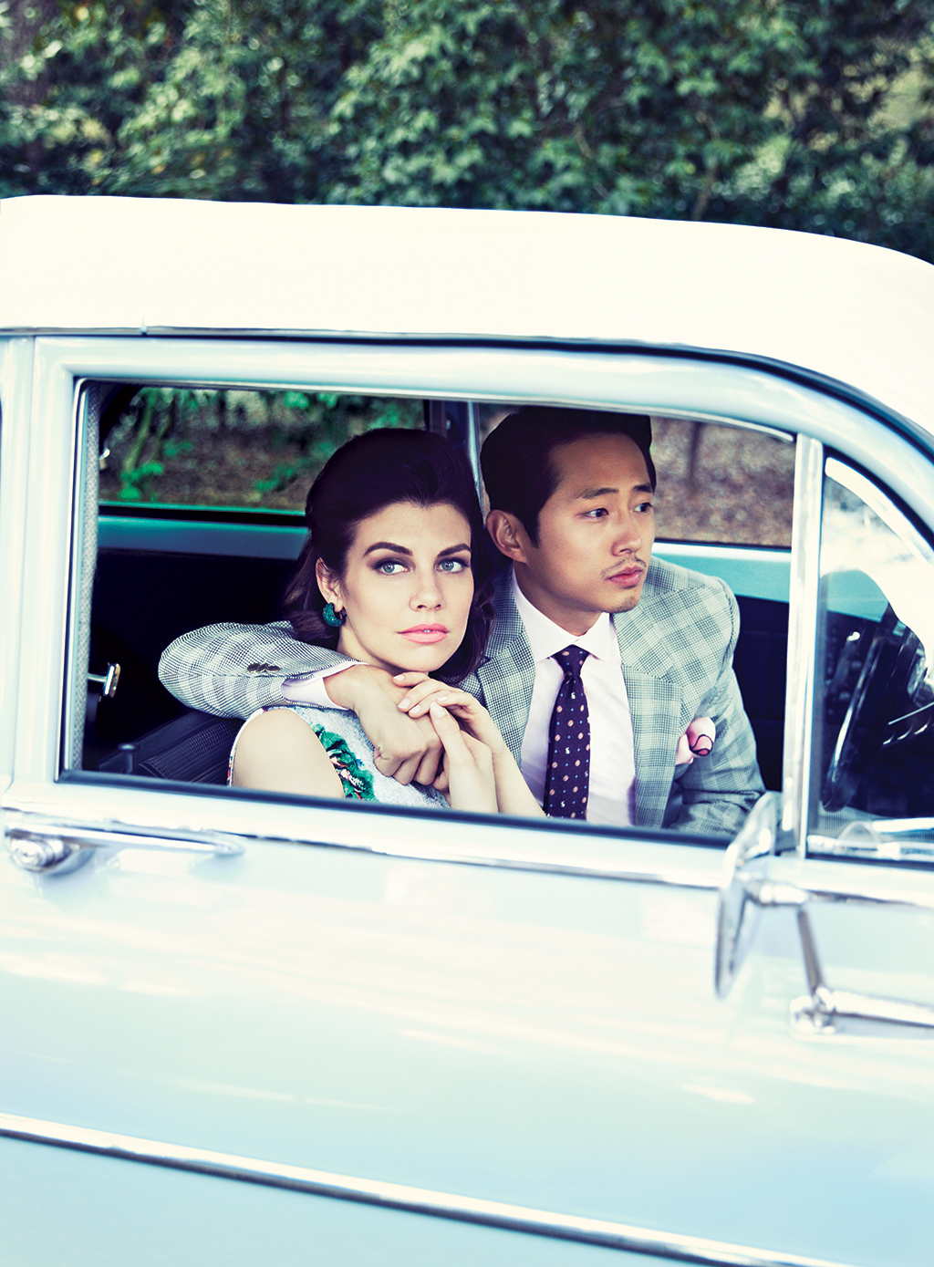Comic-Con 2014: 'The Walking Dead' cast and producers chew ... |Lauren Cohan And Steven Yeun 2014