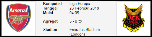 dalam kompetisi Leg kedua Europa LEAGUE PREDIKSI BOLA Arsenal FC Vs Ostersunds FK