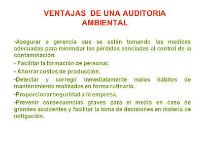 Ventajas de la Auditoria Ambiental