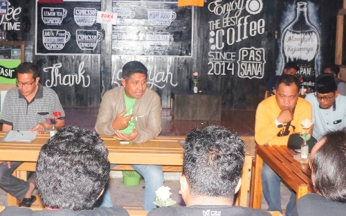 Diskusi Ringan Tentang Peran Penggiat dan Komunitas, Dalam Pelaksanaan Event Pariwisata,
