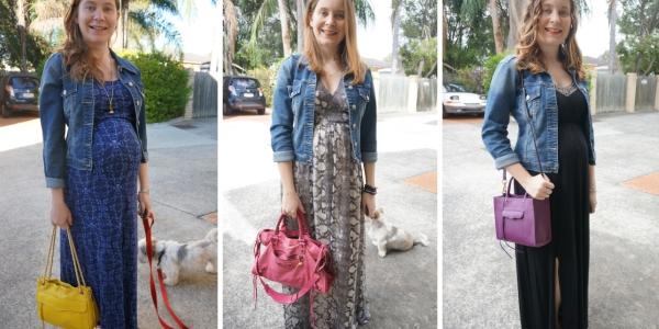 denim jacket with a baby bump: easy pregnancy style | Away From The Blue Blog