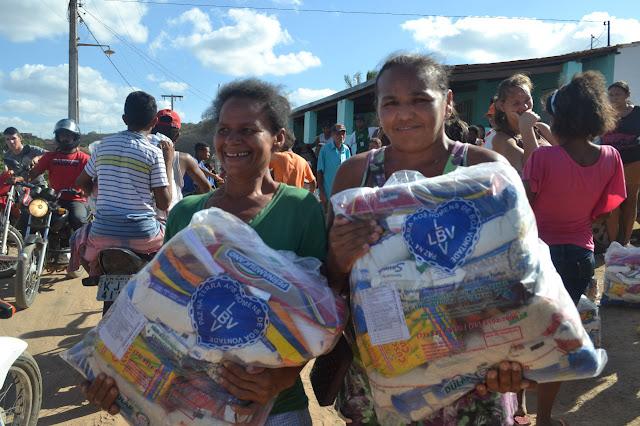 Famílias da Paraíba em situação de pobreza serão assistidas pela LBV em campanha emergencial