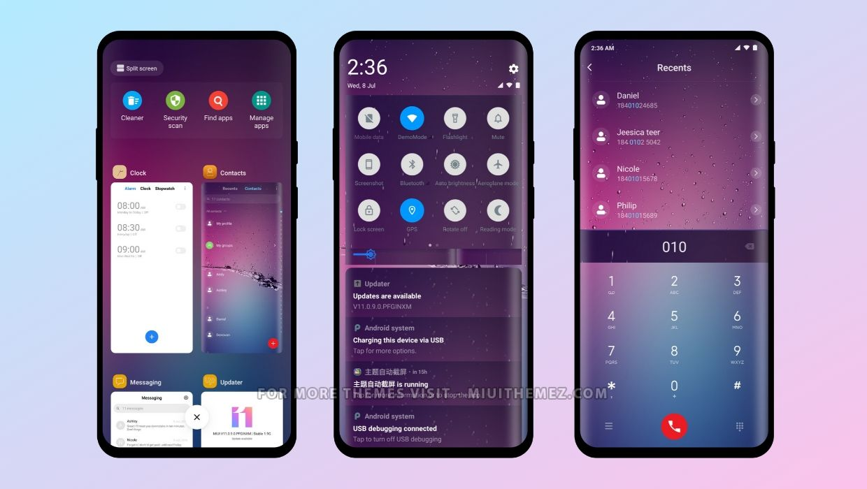 Purple Rain v12 MIUI Theme