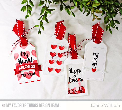 Handmade tags from Laurie Willison featuring My Favorite Things products #mftstamps