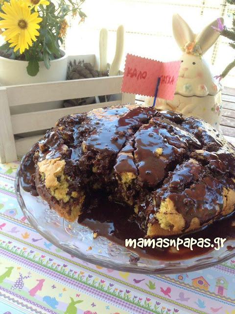Κέικ χωρίς αυγά βούτυρο και μίξερ