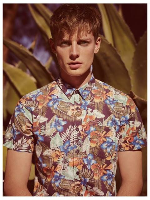 Look Camisa masculina folhagens