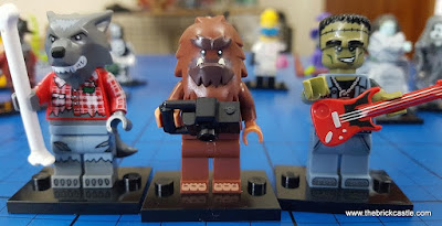 LEGO minifigures series 14 Monster Rocker Werewolf and Square Foot Sasquatch